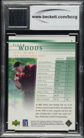 Tiger Woods 2001 Upper Deck #1 RC with Event Worn Shirt (BCCG 10) at PristineAuction.com