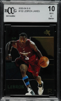 LeBron James 2003-04 E-X #102 RC (BCCG 10) at PristineAuction.com