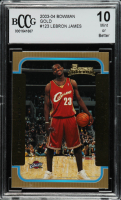 LeBron James 2003-04 Bowman Gold #123 (BCCG 10) at PristineAuction.com