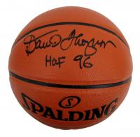 "David Thompson Signed NBA Game Ball Series Basketball Inscribed ""HOF 96"" (JSA COA) at PristineAuction.com"