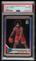 Coby White 2019-20 Donruss Optic Holo #180 RR (PSA 10) at PristineAuction.com