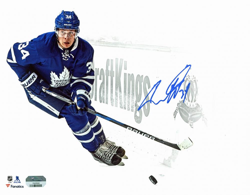 Auston Matthews Signed Maple Leafs 11x14 Photo (Fanatics Hologram) at PristineAuction.com