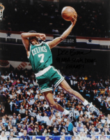 "Dee Brown Signed Celtics 16x20 Photo Inscribed ""91 NBA Slam Dunk Champ!"" (PSA Hologram) at PristineAuction.com"