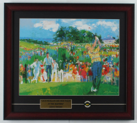 "Leroy Neiman ""Jack Nicklaus & Nick Faldo at the Masters"" 17x19 Custom Frame Print Display with Official Masters Pin at PristineAuction.com"