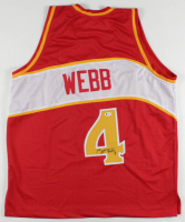 Spud Webb Signed Jersey (Beckett COA) at PristineAuction.com