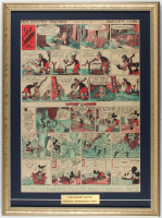 "1936 Original ""Mickey Mouse"" Newspaper Comic Strip 19x25 Custom Framed Display at PristineAuction.com"