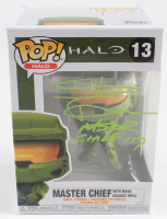 """Steve Downes Signed """"Halo"""" Master Chief with MA40 Assault Rifle #13 Funko Pop! Vinyl Figure Inscribed """"Master Chief 117"""" (Radtke COA) at PristineAuction.com"""