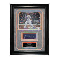 Robinson Cano Signed Mets 17x23 Custom Framed Photo Display (Steiner Hologram & Cano Hologram) at PristineAuction.com