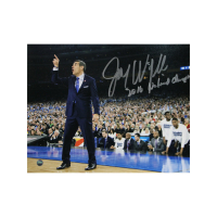 "Jay Wright Signed Villanova Wildcats 8x10 Photo Inscribed ""2016 National Champs"" (Steiner Hologram) at PristineAuction.com"