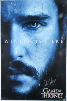 """Kit Harington Signed """"Game of Thrones"""" 24x36 Winter is Here Poster (Radtke COA) (See Description) at PristineAuction.com"""
