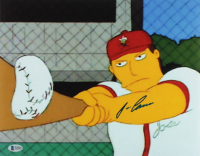 "Jose Canseco Signed ""Simpsons"" 11x14 Photo (Beckett COA) at PristineAuction.com"