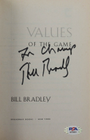 "Bill Bradley Signed ""Values Of The Game"" Softcover Book Inscribed ""2x Champ"" (PSA COA) at PristineAuction.com"