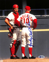 Sparky Anderson Signed Reds 8x10 Photo (Beckett COA) at PristineAuction.com