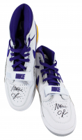 Pair of (2) Magic Johnson Signed 2018 Nike Air Jordan Legacy 312 Basketball Shoes (Beckett COA) at PristineAuction.com