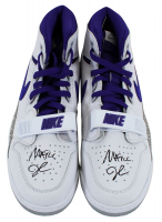 Pair of (2) Magic Johnson Signed 2018 Nike Air Jordan Legacy 312 Basketball Shoes (Beckett COA) at PristineAuction.com