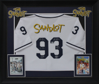 """The Sandlot"" 32x37 Custom Framed Jersey Cast-Signed by (6) with Tom Guidry, Chauncey Leopardi, Marty York, Shane Obedzinski, Victor DiMattia (Beckett COA) at PristineAuction.com"