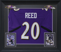 Ed Reed Signed 32x37 Custom Framed Jersey Display (Beckett COA) at PristineAuction.com