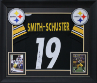 JuJu Smith-Schuster Signed 32x37 Custom Framed Jersey Display (Beckett COA) at PristineAuction.com