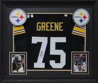 "Joe Greene Signed 32x37 Custom Framed Jersey Display Inscrinbed ""HOF 87"" (Beckett COA) at PristineAuction.com"