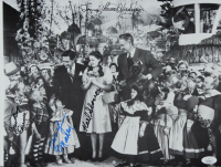 """""""The Wizard of Oz"""" 11.5x14.5 Photo Signed by (4) with Karl Slover, Mickey Carroll, Donna Stewart-Hardway, & Jerry Maren (JSA COA) at PristineAuction.com"""