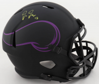 Justin Jefferson Signed Vikings Full-Size Eclipse Alternate Speed Helmet (Beckett COA) at PristineAuction.com