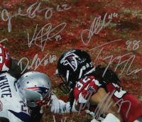 Patriots 2017 Super Bowl LI Champions 16x20 Photo Team-Signed by (36) with Tom Brady, Rob Gronkowski, Jimmy Garoppolo, Julian Edelman, LeGarrette Blount, James White (Beckett COA, TriStar Hologram, Fanatics Hologram, & JSA LOA) at PristineAuction.com
