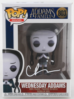"Christina Ricci Signed ""The Addams Family"" #803 Wednesday Addams Funko Pop! Vinyl Figure (Beckett COA) at PristineAuction.com"