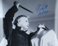 """Nick Castle Signed """"Halloween"""" 16x20 Poster Inscribed """"The Shape"""" (Beckett COA) (See Description) at PristineAuction.com"""