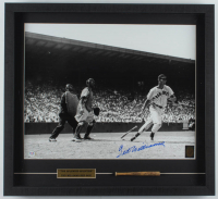 Ted Williams Signed Red Sox 22x21 Custom Framed Photo Display with Mini Louisville Slugger Baseball Bat (PSA LOA & Williams Hologram) (See Description) at PristineAuction.com
