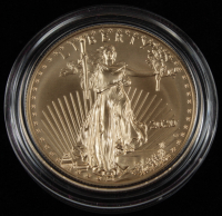 2020 W $50 Gold Eagle One Ounce Uncirculated 7,000-Limited Gold Coin with Original Packaging at PristineAuction.com