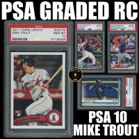 Mystery Ink PSA Graded Slabbed Baseball Rookie RC / Pre-Rookie Pack - PSA 10 Mike Trout Edition at PristineAuction.com