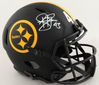Troy Polamalu Signed Steelers Full-Size Authentic On-Field Eclipse Alternate Speed Helmet (Beckett COA) at PristineAuction.com