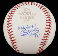 "Charlie Morton Signed 2017 World Series Baseball Inscribed ""All The Best!"" (JSA COA) (See Description) at PristineAuction.com"