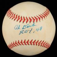 """Al Dark Signed ONL Baseball Inscribed """"Roy 48"""" (JSA COA) (See Description) at PristineAuction.com"""
