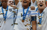 Christie Rampone Signed Team USA 2015 FIFA World Cup Champions 16x20 Photo (Steiner Hologram) at PristineAuction.com