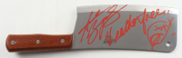 """Andrew Bryniarski Signed """"The Texas Chainsaw Massacre"""" Stainless Steel Cleaver Inscribed """"Leatherface"""" with Hand-Drawn Sketch (JSA COA) at PristineAuction.com"""