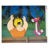 """""""The Pink Panther"""" 11x12 Original Production Cel from the Animated Classic at PristineAuction.com"""