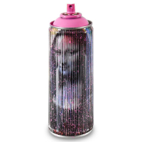 """Mr. Brainwash Signed """"Mona Lisa (Pink)"""" Limited Edition Hand Painted Spray Can #125/150 with Thumbprint at PristineAuction.com"""