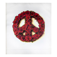 """Steve Kaufman Signed """"Peace"""" Limited Edition 30x27 Hand Pulled Silkscreen Mixed Media on Canvas at PristineAuction.com"""