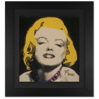 """Ringo Signed """"Marilyn Seduction"""" 18x19 Custom Framed One-of-a-Kind Mixed Media Painting on Canvas at PristineAuction.com"""