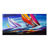 Natalia Sinkovsky Signed 20x40 Original Acrylic Painting on Canvas at PristineAuction.com