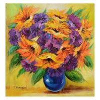 Yana Korobov Signed 30x30 Original Acrylic Painting on Canvas at PristineAuction.com
