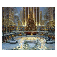 """Robert Finale Signed """"Holidays In New York"""" Artist Embellished Limited Edition 24x36 Giclee on Canvas at PristineAuction.com"""
