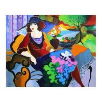 "Patricia Govezensky Signed ""Amy"" 24x30 Original Acrylic On Canvas at PristineAuction.com"