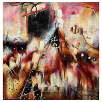 "John Milan Signed ""Monument Horizon"" 48x48 Original Painting at PristineAuction.com"