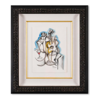 Yuroz Signed 20x23 Custom Framed Original Mixed Media Watercolor Painting at PristineAuction.com