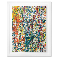 "Wyland Signed ""Splash 58"" 37x30 Custom Framed Original Watercolor Painting at PristineAuction.com"
