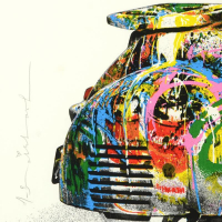 """Mr. Brainwash Signed """"Vespa (Large)"""" Limited Edition 45x57 Custom Framed Silk Screen #PP 3/5 at PristineAuction.com"""
