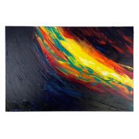 "Wyland Signed ""Abstract Waters"" 36x24 Original Painting on Board at PristineAuction.com"