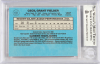 Cecil Fielder Signed 1986 Donruss #512 RC (BGS Encapsulated) at PristineAuction.com